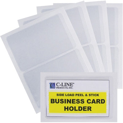 C-Line Self-Adhesive Business Card Holders - Polypropylene - 10 / Pack - Clear
