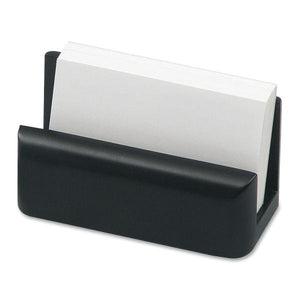 Rolodex Wood Tones Black Wood Card Holder