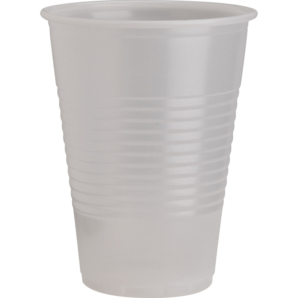 Genuine Joe Translucent Plastic Beverage Cups - 200 / Sleeve - 266.16 mL - 2400 / Carton - Clear - Plastic - Cold Drink