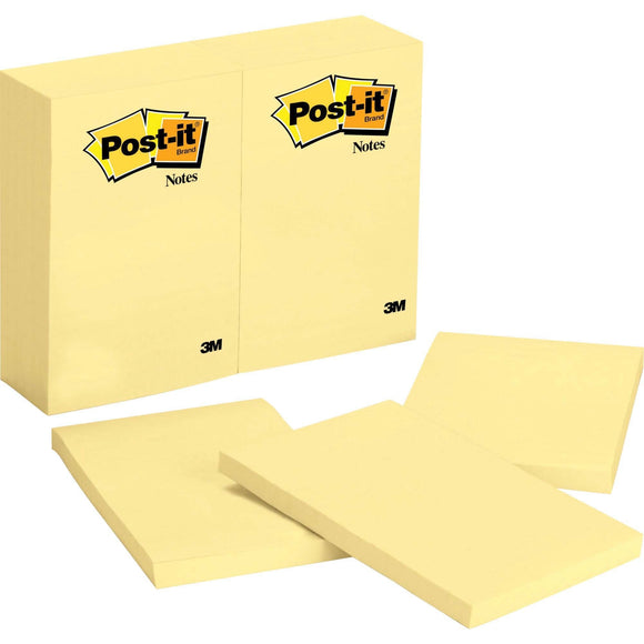 Post it Notes  4 in x 6 in  Canary Yellow