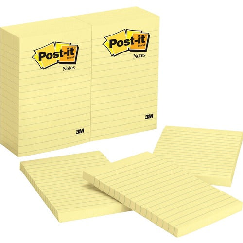 Post it Notes  4 in x 6 in  Canary Yellow Lined 1 PAD