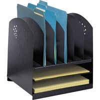 Safco 2 Horiz 6 Upright Combination Desk Rack