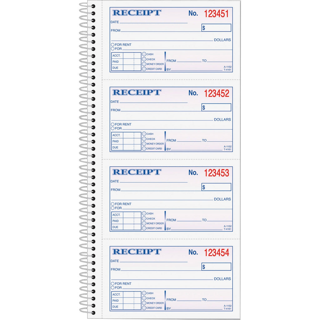 TOPS Carbonless 2 part Money Receipt Book
