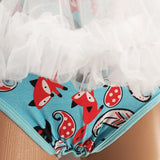 Fox Adult Tutu Romper / Onesie Snap Crotch