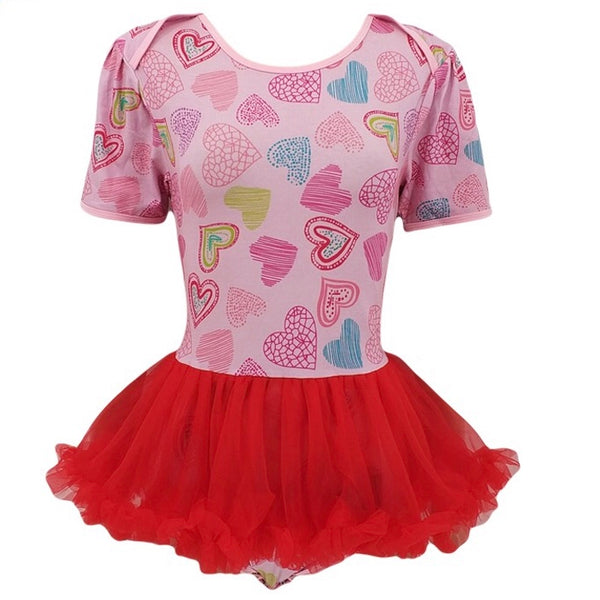 Hearts Adult Tutu Romper / Onesie Snap Crotch