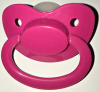 Hot Pink Adult Sized Pacifier Dummy for Adult Baby - ABDL