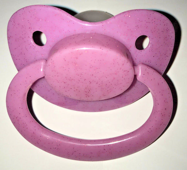 Light Purple Glitter Adult Sized Pacifier Dummy for Adult Baby - ABDL
