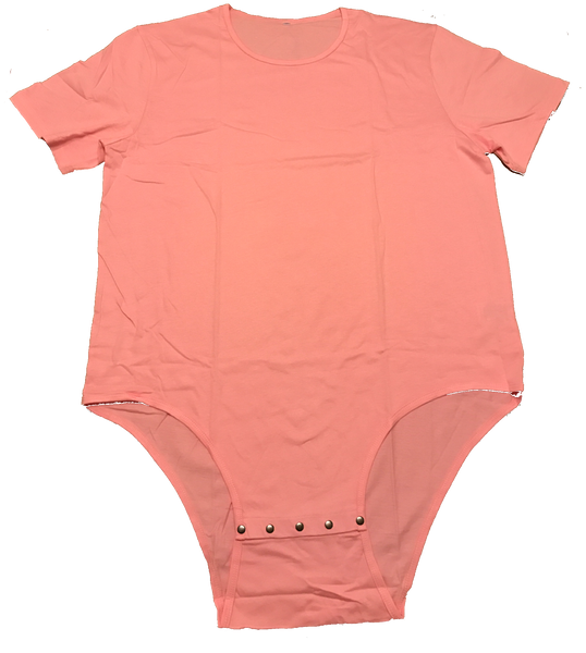 Adult Romper Onesie Snap Crotch in Pink