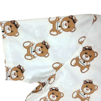 Teddy Brown Bear Romper / Onesie Snap Crotch