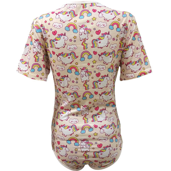 44fbb04b05 Unicorn and Rainbows Adult Baby Romper   Onesie ABDL – Padded Bums