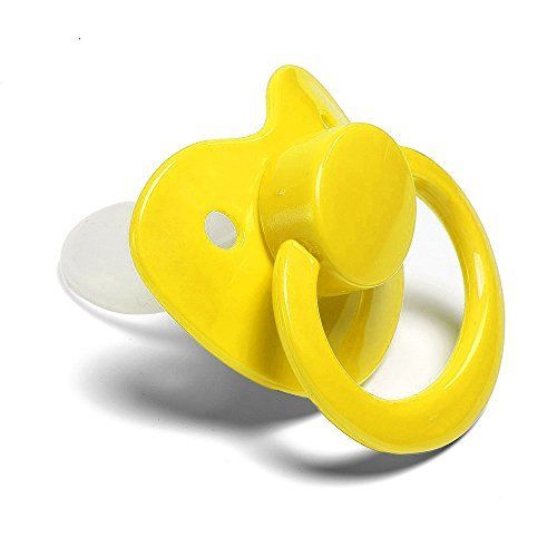 Yellow Adult Sized Pacifier Dummy for Adult Baby - ABDL