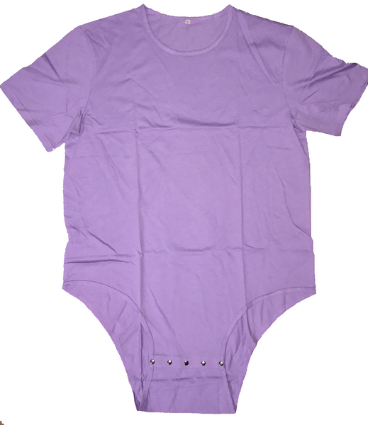 Adult Romper Onesie Snap Crotch in Purple