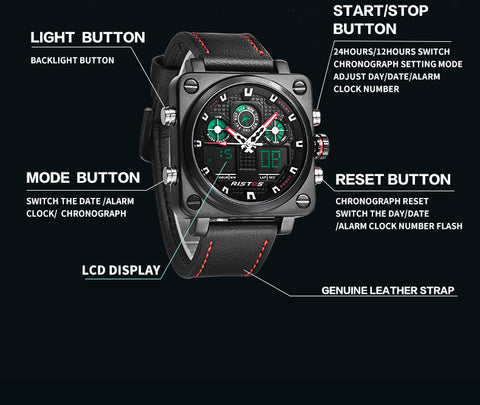 Chronograph Multifunction Sport Travel Watch