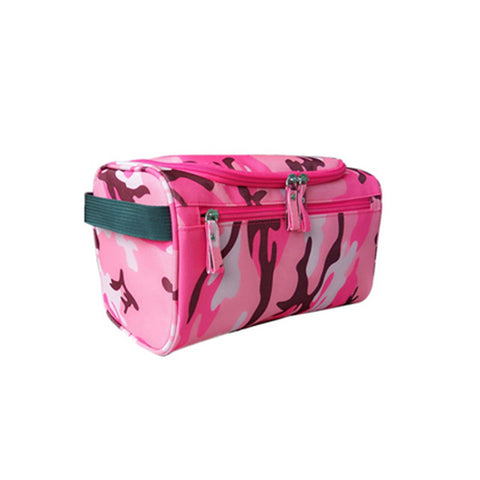 Elite Travel Pink Camouflage Style Hanging Travel Bag