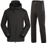 Elite Travel Plain Black Outdoor Travel Suits