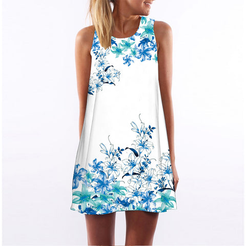 Cosmos Floral Tunic Beach Dress