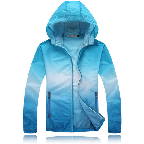 Footstep Sun-Protective Outdoor Sky Blue Travel Jacket