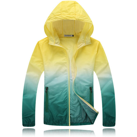 Footstep Sun-Protective Outdoor Yellow Travel Jacket