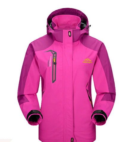 Footstep Waterproof Outdoor Pink Travel Jacket