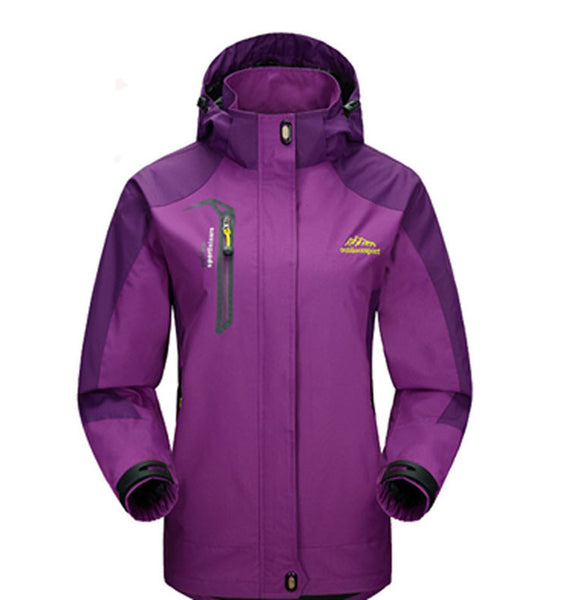Footstep Waterproof Outdoor Purple Travel Jacket