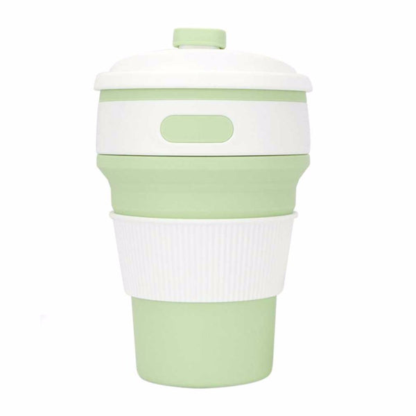 NAT Green Retractable Folding Water Bottle 350ml