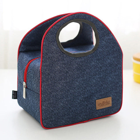 World Explorer Trendy Look Round Hole Tote Thermal Bag