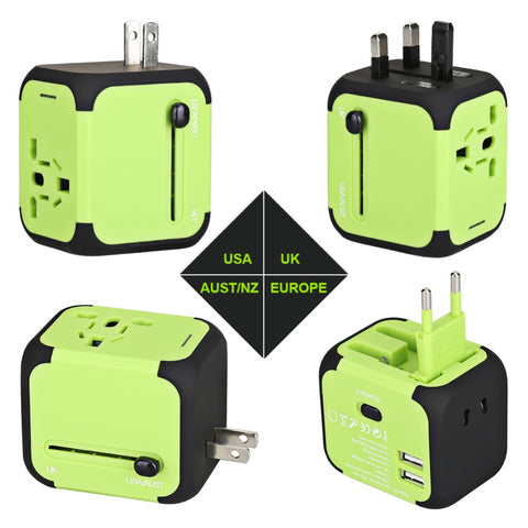 NAT Universal Travel Adapter With Dual USB Charging