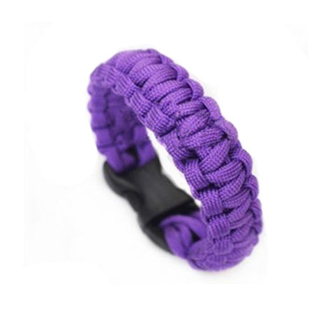 World Explorer Self-rescue Parachute Cord Purple Bracelets
