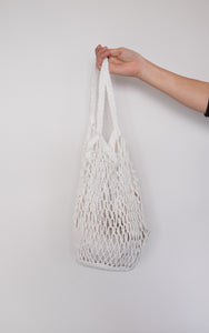 White Crochet Market Bag