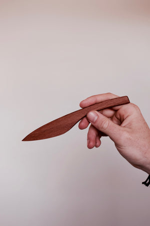 Hardwood cheese knife