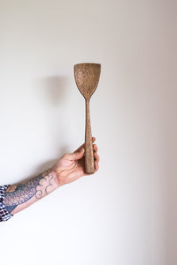 Reclaimed Cherry American Wood Spoon Spatula Handmade NZ Stirring Spoon natural wax oil the Zephyr Co