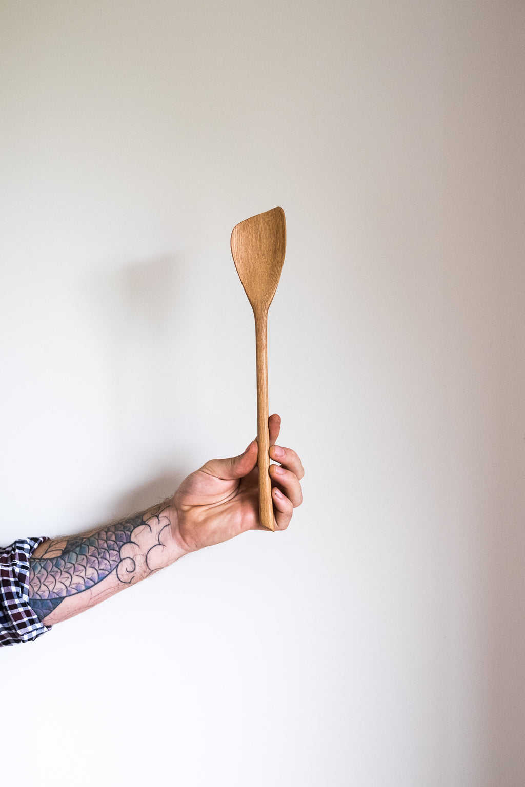 Reclaimed Rimu Wood Spoon Spatula Handmade NZ Slotted Spoon the Zephyr Co