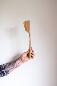 Reclaimed Oak Wood Spoon Spatula Handmade NZ Stirring Spoon natural wax oil the Zephyr Co