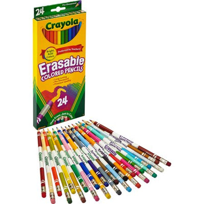 Crayola Erasable Colored Pencils - 24 Count