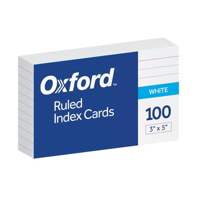 Index Cards, 3x5 Ruled - 100 Count