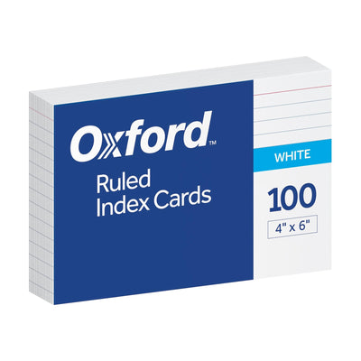 Index Cards, 4x6 Ruled - 100 Count