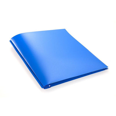 Folder - Plastic/Prongs/Blue