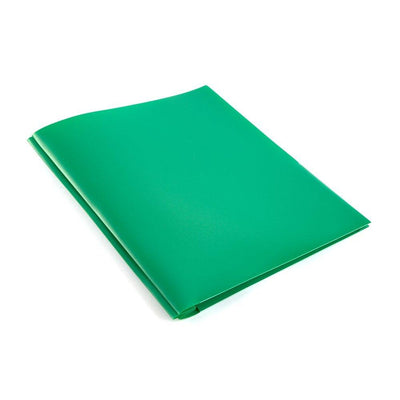 Folder - Plastic/Prongs/Green