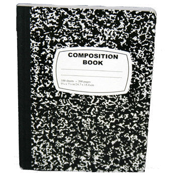 Composition Notebook - Wide Ruled - 100 Sheets