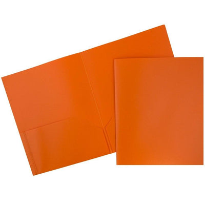 Folder - Plastic/No Prongs/Orange