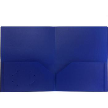 Folder - Plastic/No Prongs/Blue