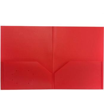 Folder - Plastic/No Prongs/Red