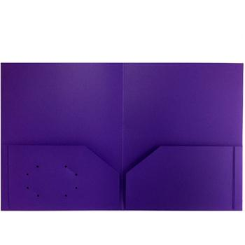 Folder - Plastic/No Prongs/Purple