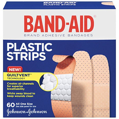 Band-Aid Brand Comfort-Flex Minor Wound Care Plastic Adhesive Bandages, 60 Count