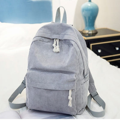 Miyahouse Preppy Corduroy Backpack - 16""