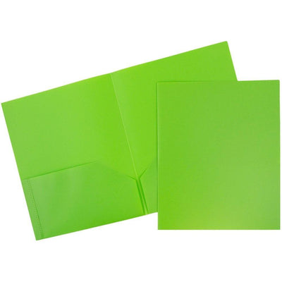 Folder - Plastic/No Prongs/Green