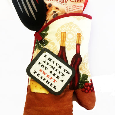 Sweet Teacher Oven Mitt