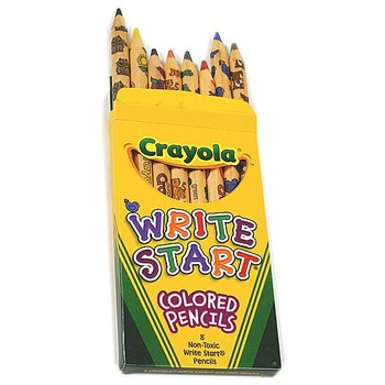 Crayola Write Start Colored Pencils, 8 Count
