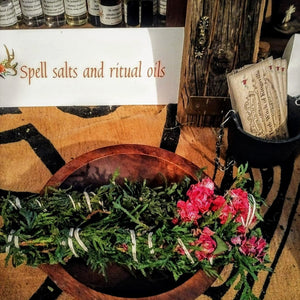 Cedar and Rose Smudge Wand