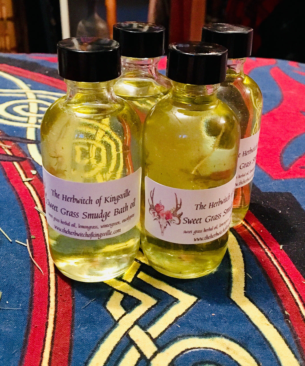 Sweet grass Smudge bath oil 2 oz
